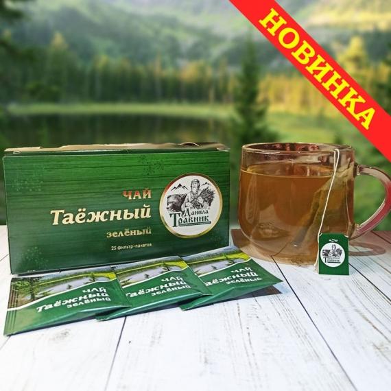 """Купить Чай """"Таёжный"""" зеленый (25 фильтр пакетов)"""